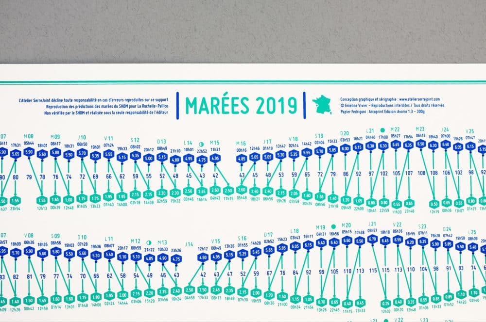 Calendrier Des Marees La Rochelle 2020.Calendrier Des Marees 2019 Emeline Vivier Port Au Choix